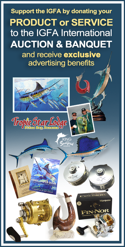 Donate to the 30th Annual IGFA International Auction & Banquet
