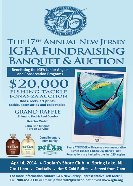 IGFA New Jersey Representatives Banquet & Auction