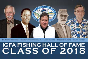 2018 Fishing Hall of Fame Inductees