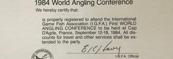 The IGFA holds the World Angling Conference