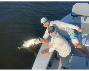 October Slams and Clubs Paul Sabayrac with tarpon