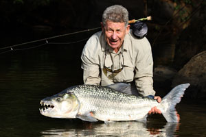 Giant tigerfish on fly